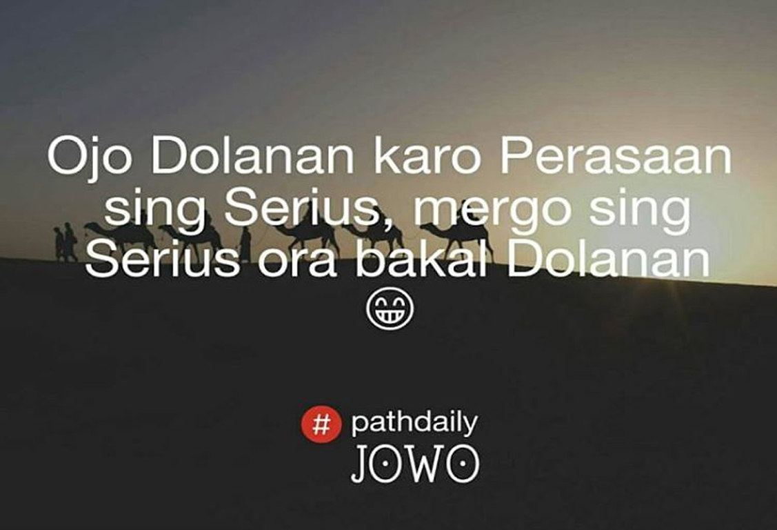Caption Jowo Romantis Nusagates