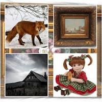 quadros que compõe uma ilustração de mistério