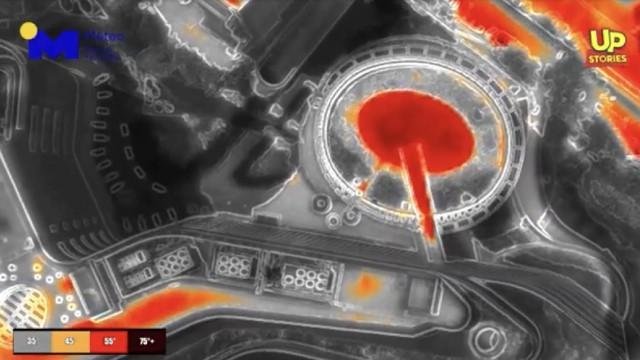 Πτήση drone με θερμική κάμερα πάνω από την Αθήνα