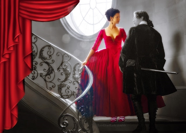 Outlander 202 Red Dress Digital Art