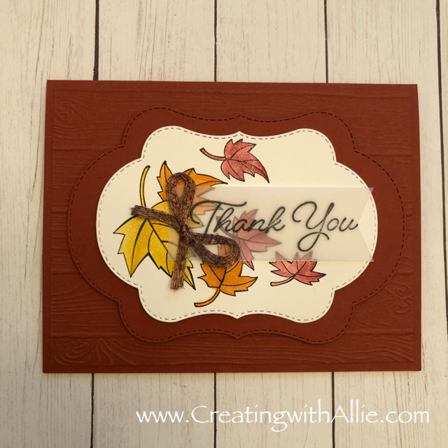 Check out the blog post where I show you how to make a quick and easy card, this card features Stampin Up's Colorful Seasons Bundle!  You'll love how quick and easy this is to make!  www.creatingwithallie.com #stampinup #alejandragomez #creatingwithallie #videotutorial #cardmaking #papercrafts #handmadegreetingcards #fun #creativity #makeacard #sendacard #stampingisfun #sharewhatyoulove #handmadecards #friendshipcards