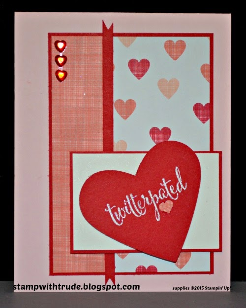 trude thoman, stampwithtrude, valentine, You Plus Me, Stampin' Up!, Twitterpated