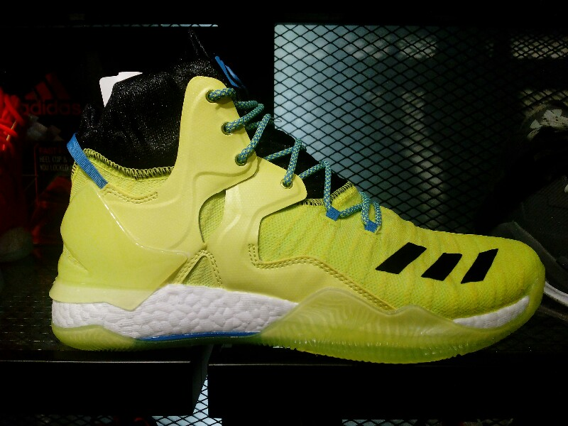 buy online ef2ba ca234 The Solar Yellow colorway of the adidas D Rose 7 Primeknit is also  available at the NBA Store in Trinoma. This bright yellow (closer to neon) looks  a bit ...