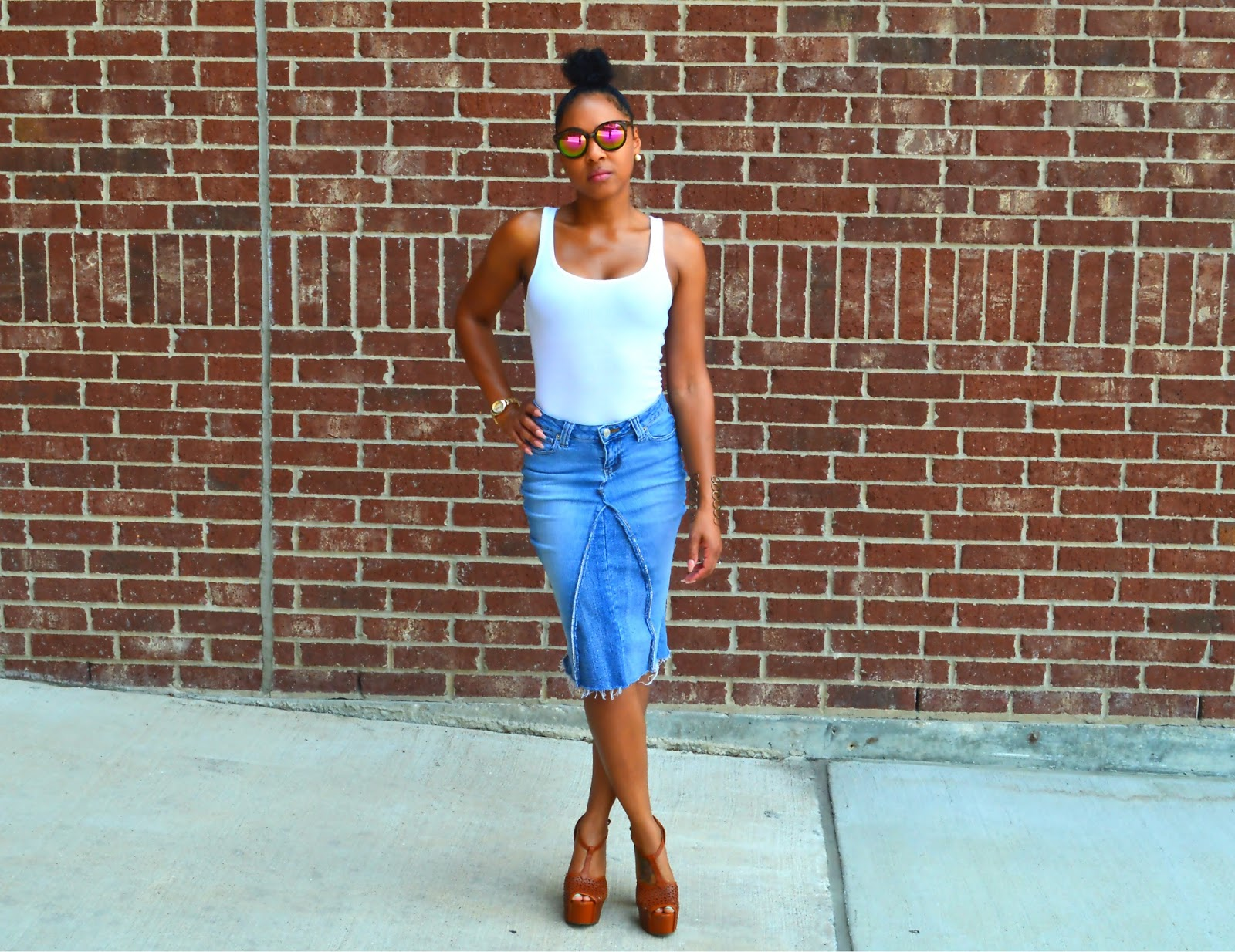 6ed4366389 How To Make A Denim Skirt Out Of Old Jeans
