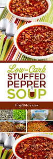 Low-Carb Stuffed Pepper Soup found on KalynsKitchen.com