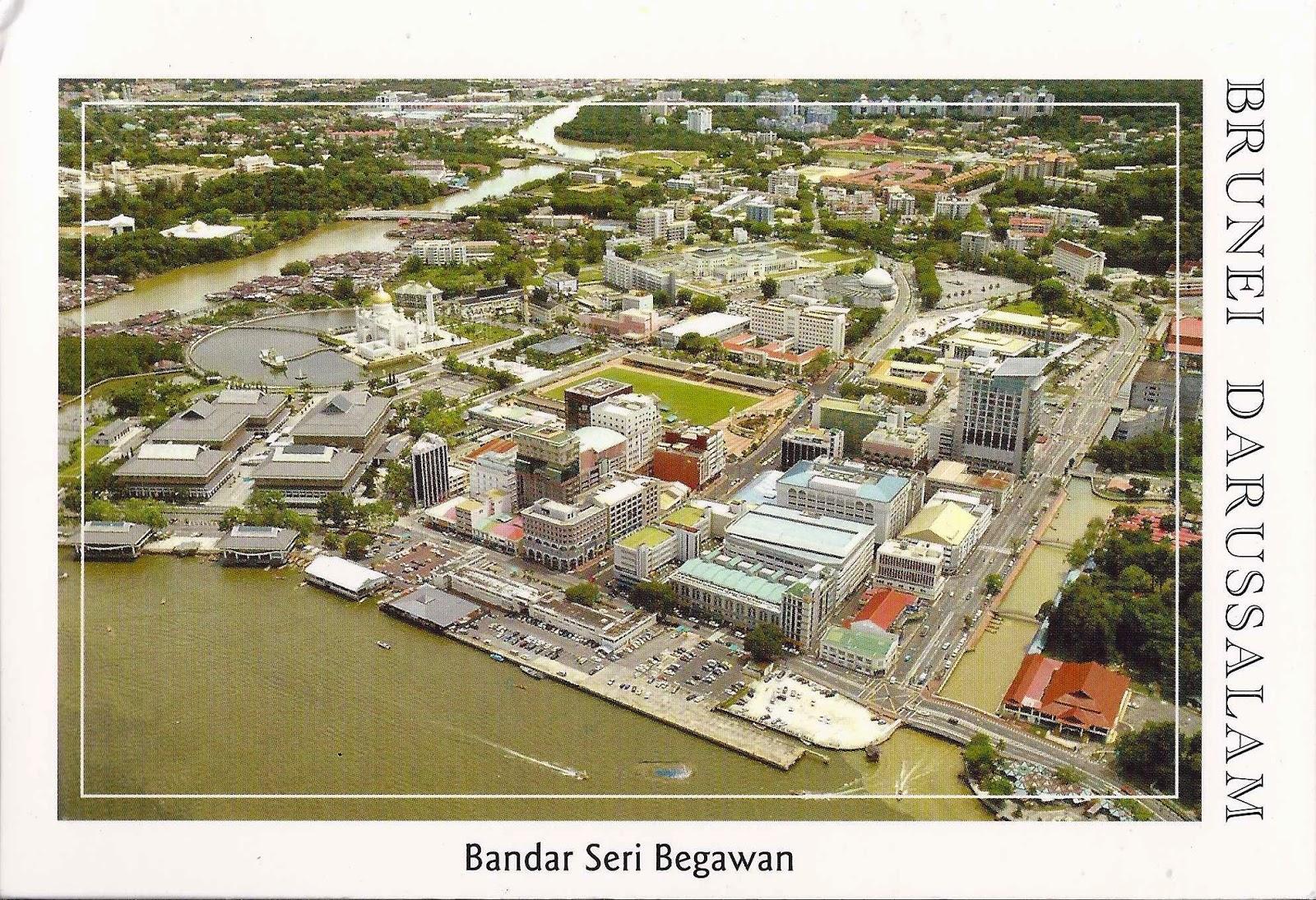 A Journey of Postcards: Bandar Seri Begawan, the capital of