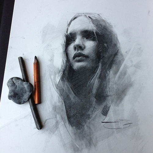 17-Casey-Baugh-Portrait-Drawings-of-Charcoal-Studies-www-designstack-co