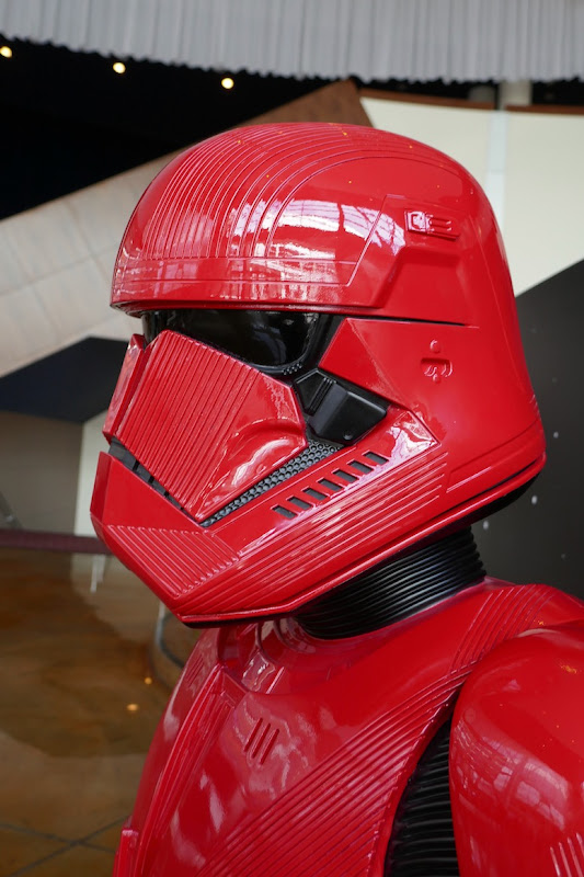Red Stormtrooper helmet Star Wars Rise of Skywalker