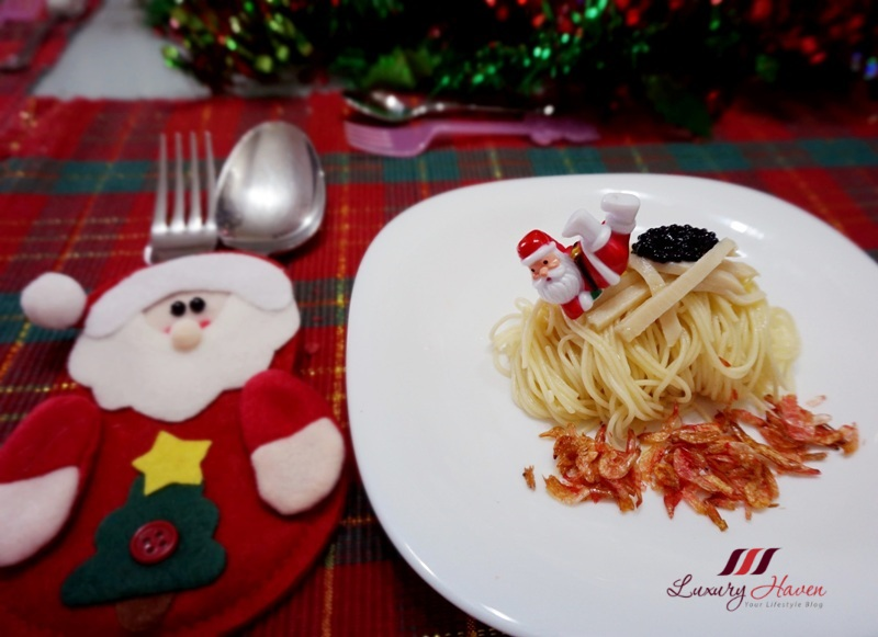 christmas santa cutlery sakura ebi angel hair pasta