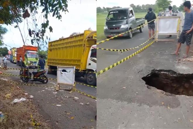 Jalan Ambles di Poros Bone-Sinjai, Truk Dilarang Melintas
