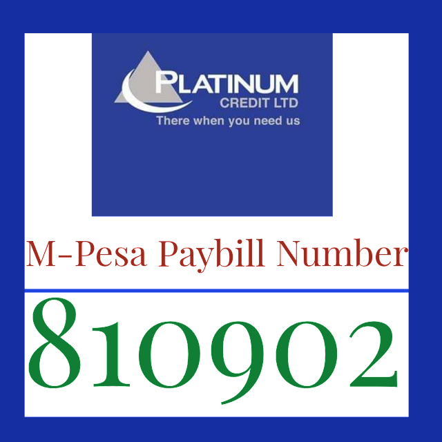 Platinum Credit Limited Mpesa Paybill Number 810902