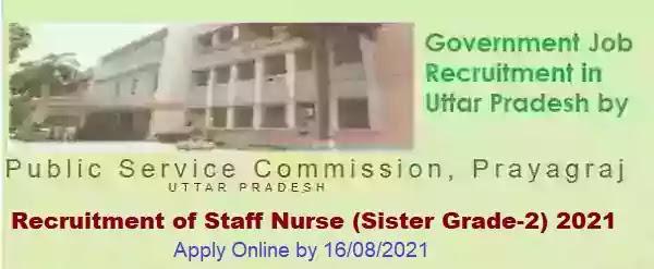 UPPSC Staff Nurse Vacancy Recruitment 2021