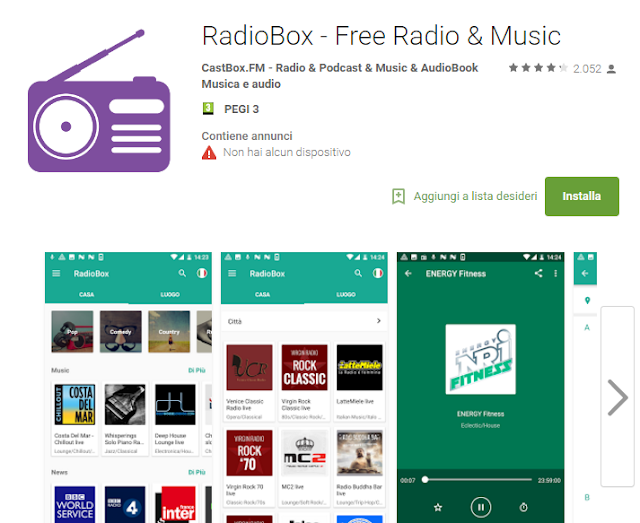 RadioBox - Free Radio & Music  scree-shot