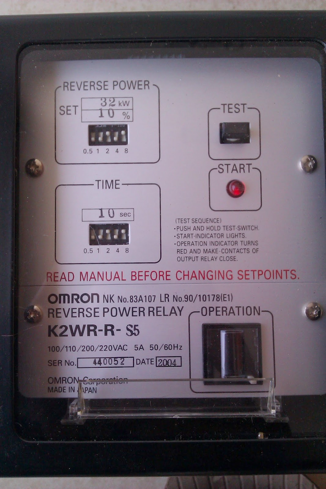 Omron Reverse Power Relay M Enterprise Ship Supplies Info Current