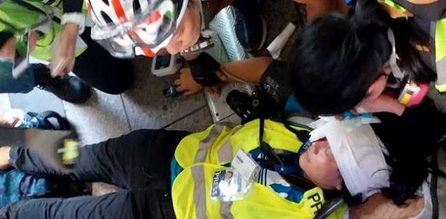 Warga Indonesia Tertembak di Hongkong Adalah Wartawan Saat Liput Demo
