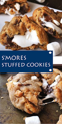 S'MORES STUFFED COOKIES #dessert #cookies