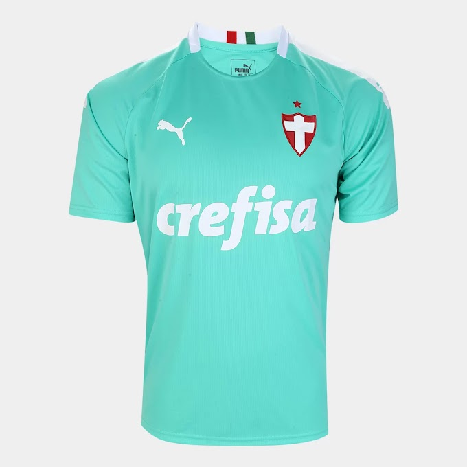 Camisa Palmeiras III 19/20 s/n° - Torcedor Puma Masculina - Verde água
