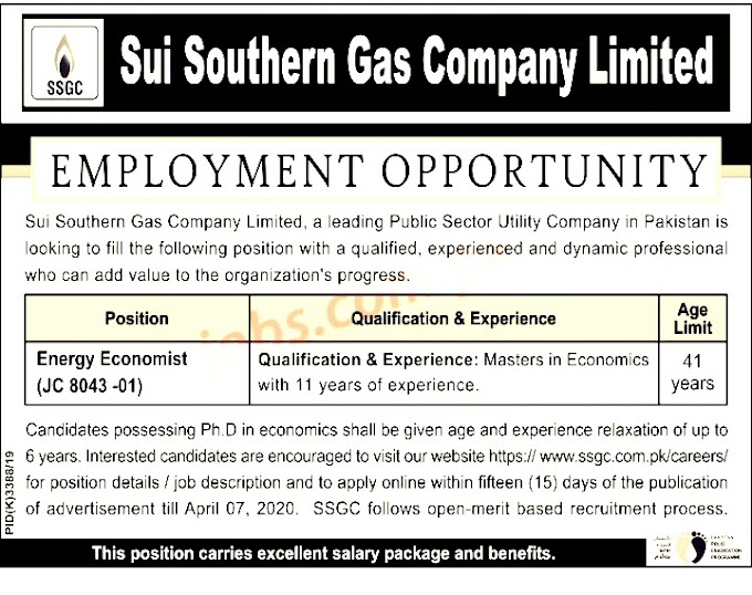 Sui Southern Gas Company Limited Jobs 2020