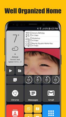 تطبيق Square Home 3 - Launcher بنسخة المدفوعة