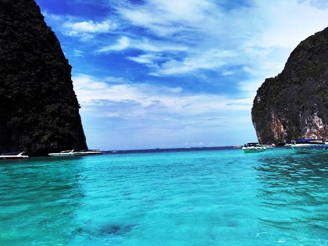 Minha viagem pela Tailândia. Na foto Maya Bay