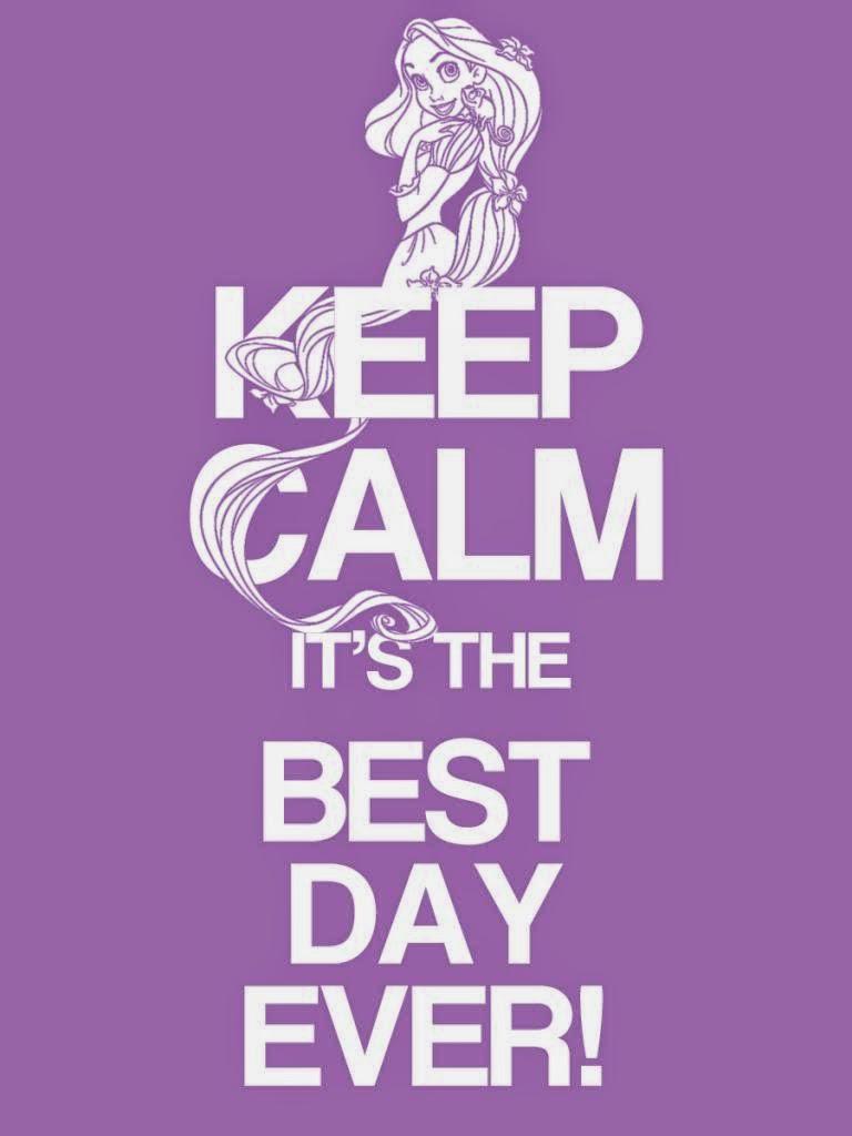 "Rótulo ""Keep Calm"" de Rapunzel para Imprimir Gratis."