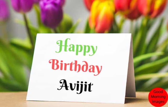 Birthday images with name avijit