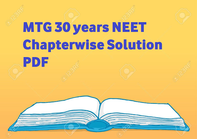 MTG 30 years NEET Chapterwise Solution PDF Of Physics