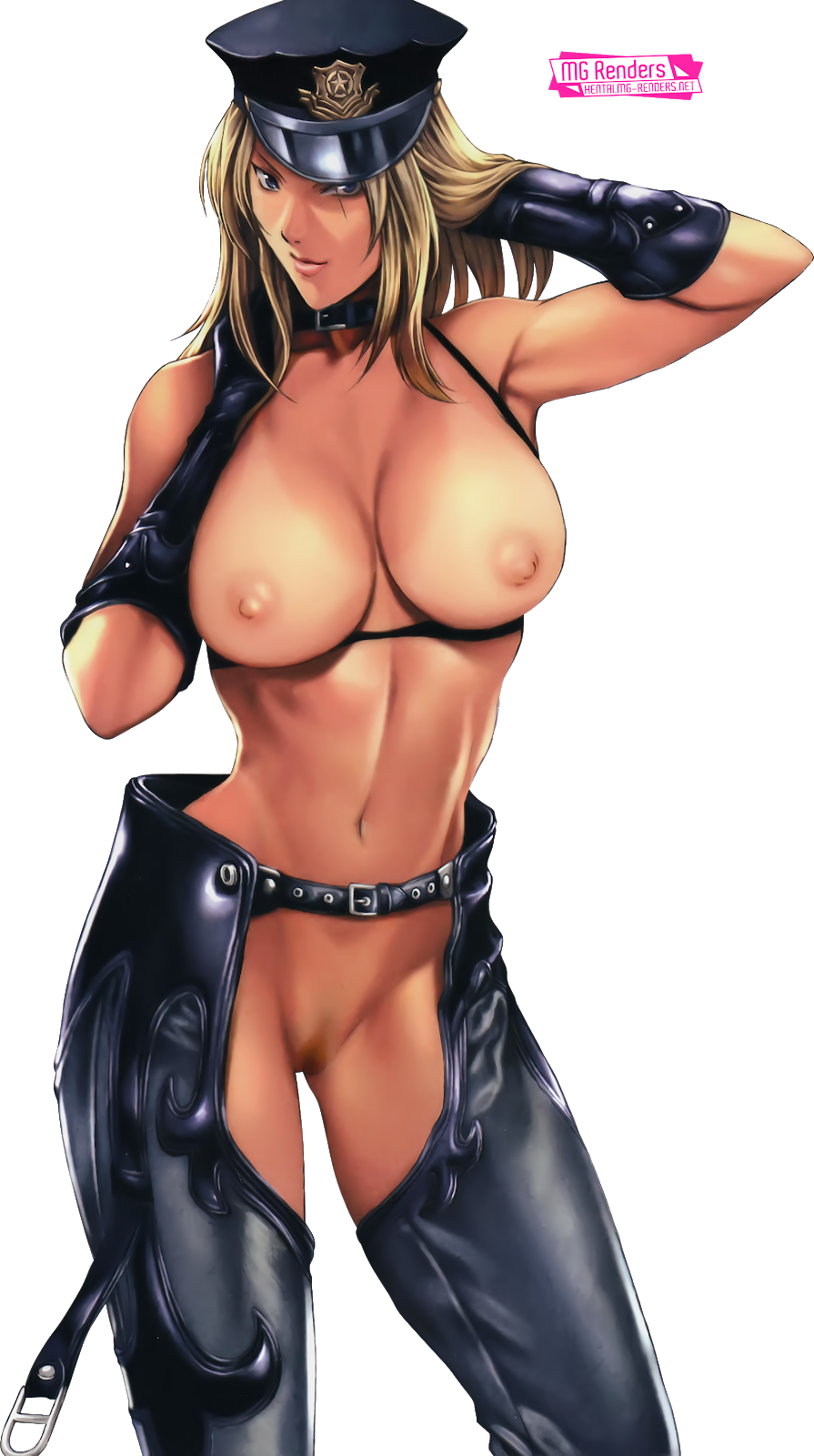Tags: Anime, Render,  Armpit,  Arms up,  Bare shoulders,  Dixie Clemets,  Huge Breasts,  Navel,  Nipples,  No bra,  No panties,  Rumble Roses, PNG, Image, Picture