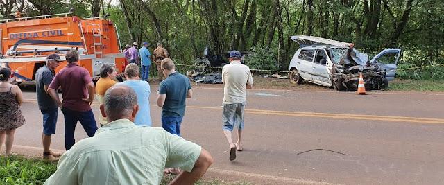 Duas pessoas morrem em grave acidente na saída de Nova Cantu