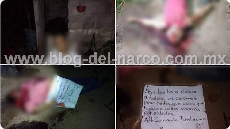 """""""Por andar de osicones"""", Sicarios de """"El Comando Fantasma"""" masacran a tres sujetos dentro de su casa en Oaxaca"""