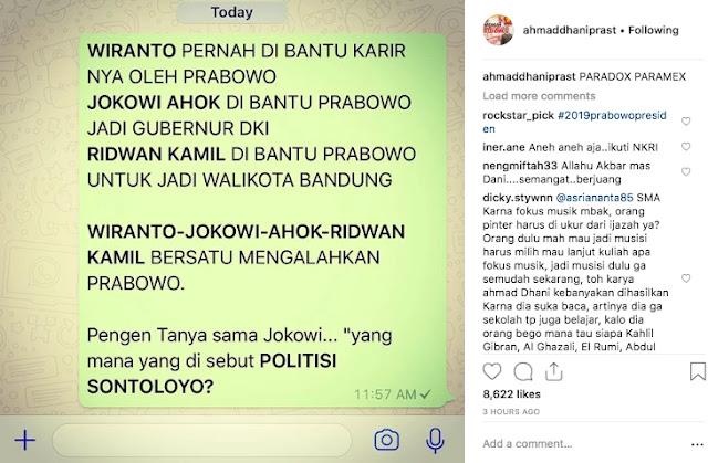 Jokowi Singgung Politikus Sontoloyo, Ahmad Dhani Kasih Pertanyaan Menohok