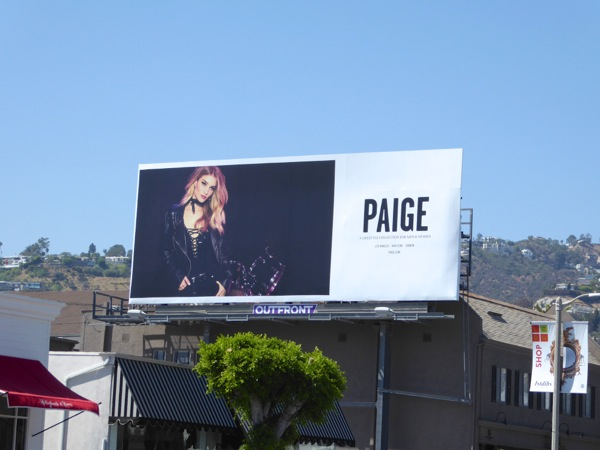 Paige FW 2016 fashion billboard