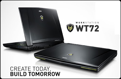 MSI WT72 Laptop Workstation Yang Support VR Ready