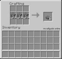 minecraft slab recipe
