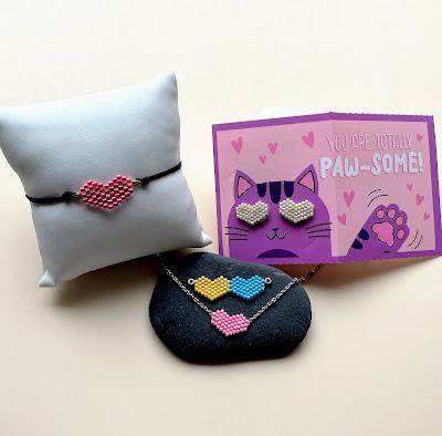 Heart beaded jewelry instructions by Lisa Yang Jewelry