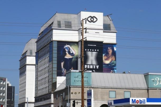 Rihanna Fenty Savage X lingerie billboard