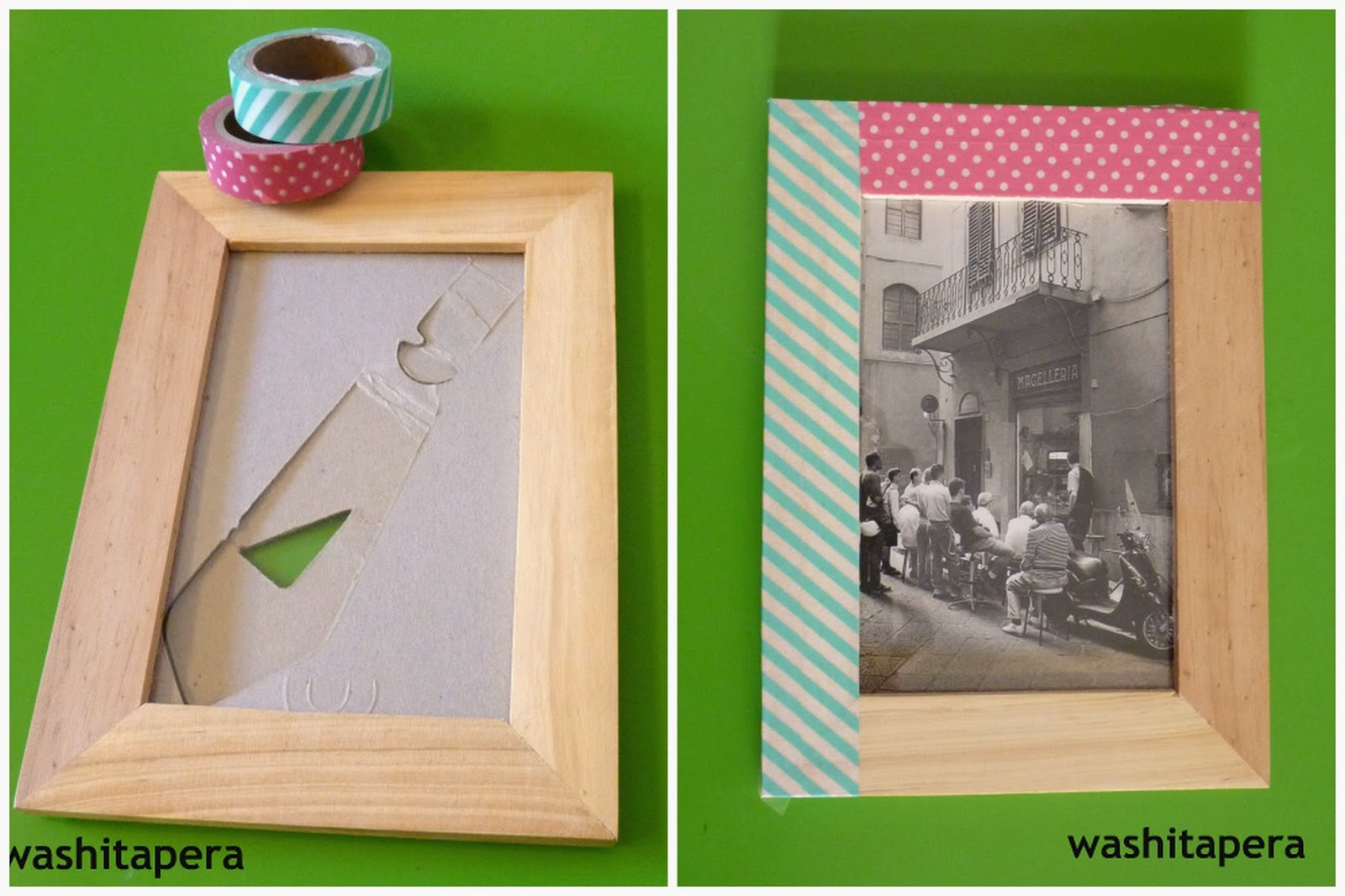 Arts And Crafts Un Marco Ram Decorado Con Washi Tape Mi Llave Allen - Decorar-marco-fotos