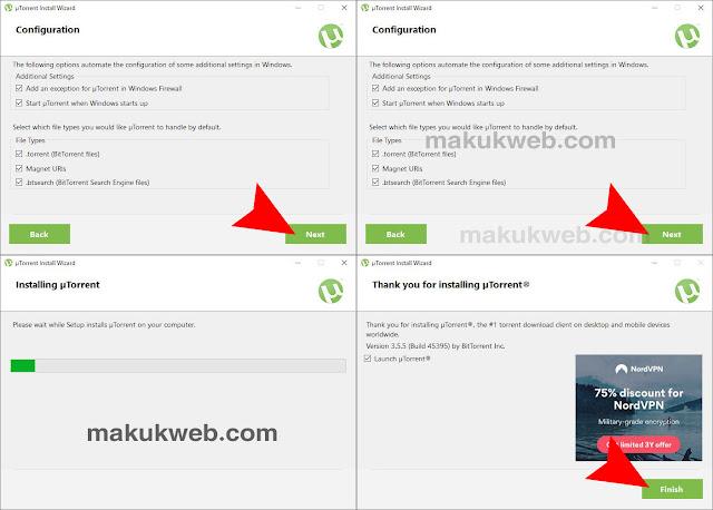 اتمام تثبيت برنامج تورنت عربي utorrent