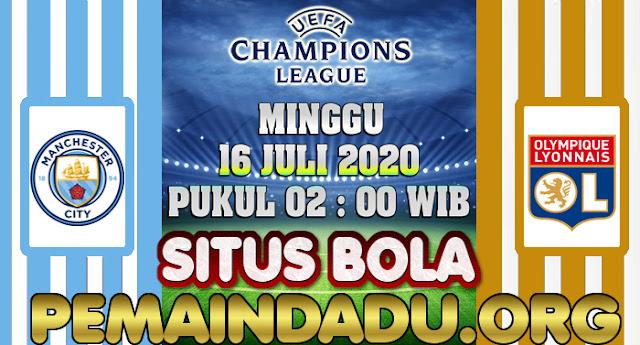 Prediksi Pertandingan Liga Champions Antara Manchester City Vs Lyon