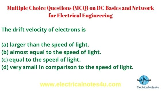 MCQ on DC Basics and Network for Electrical Engineering