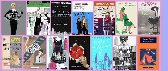 portadas del libro Desayuno en Tiffany's, de Truman Capote