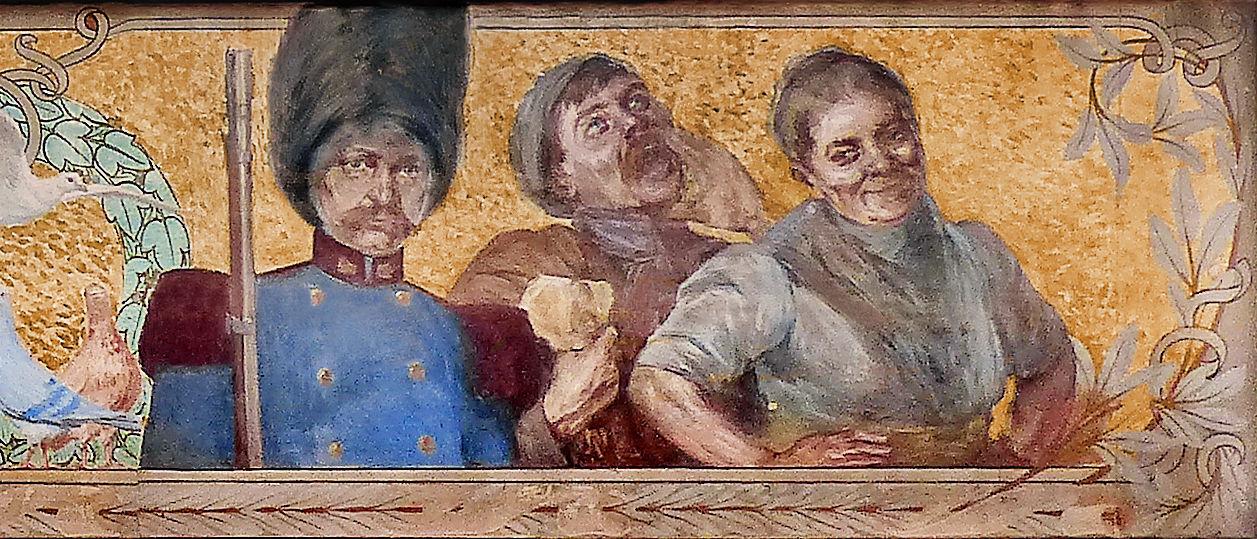 Rémy Cogghe - Fresque Maison du Broutteux (détail), Tourcoing