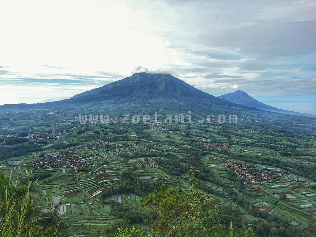 Panorama Lanscape Gunung Andong Untuk Fotografi