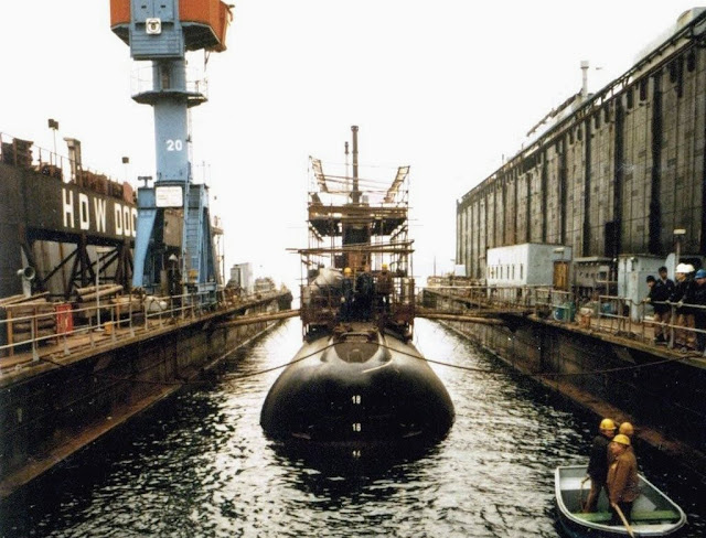 Recorrido Submarino BAP Arica Kiel Astilleros HDW 1983 1984 -  Foto:Juan Luis Vásquez Budge