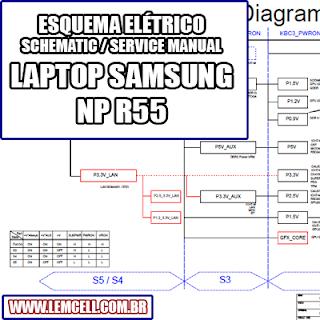 Esquema Elétrico Notebook Laptop Samsung NP R55 Manual de Serviço  Service Manual schematic Diagram Notebook Laptop Samsung NP R55    Esquematico Notebook Laptop Samsung NP R55