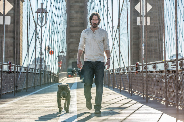 John Wick: Chapter 2 Keanu Reeves as John Wick and his nameless dog