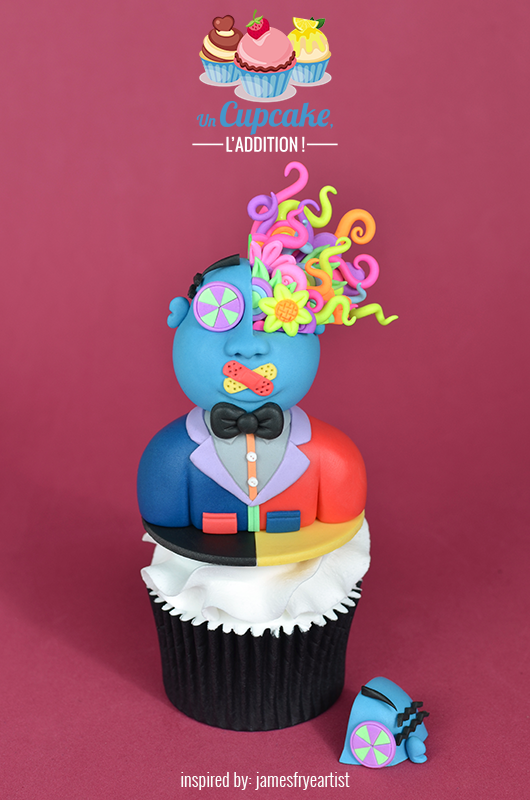 Cupcake « Blue Meanie selon James Frye »