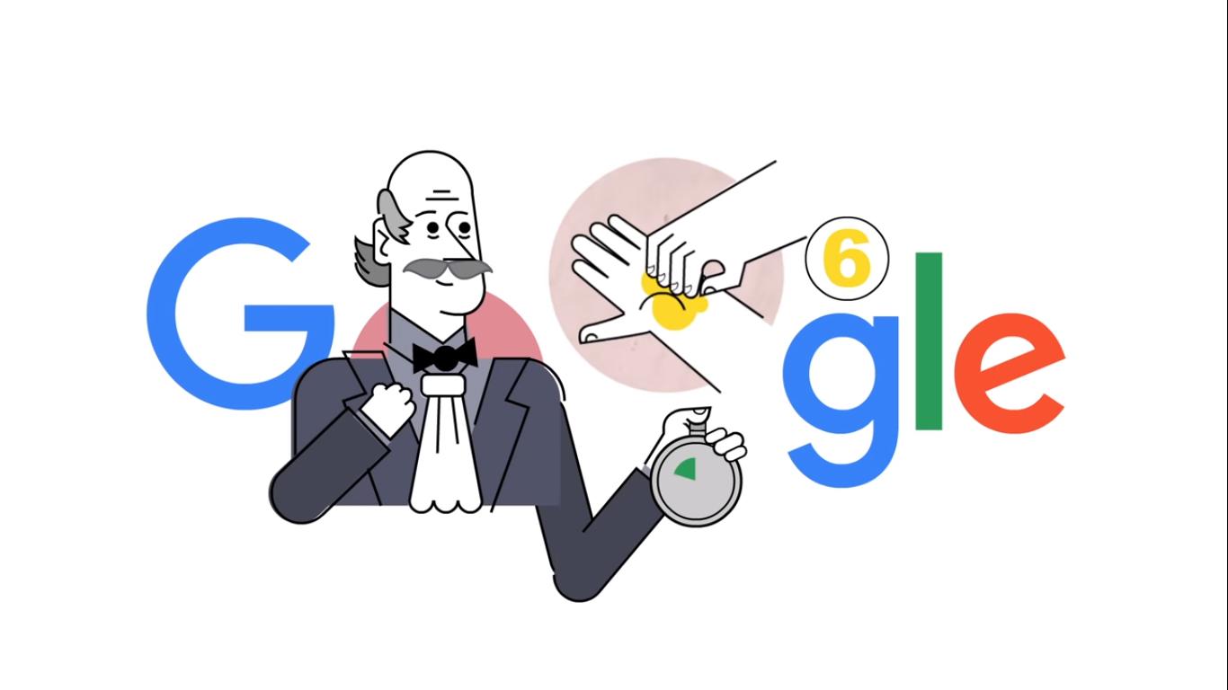 Coronavirus, il Doodle di Google ci ricorda come lavarsi correttamente le mani | Video