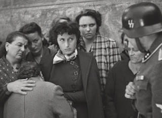 Anna Magnani, centre, in a scene from Rome, Open City, the film that was the turning point in her career