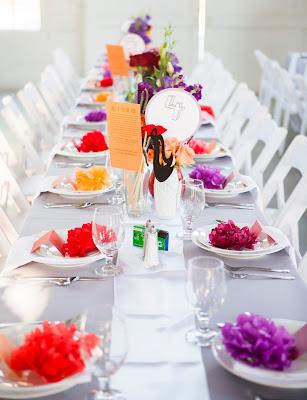 beautiful wedding dining table